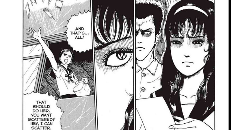 Tomie's horrified that her secret is discovered