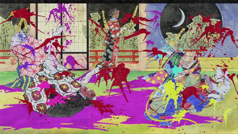 Mononoke's stylized murder scene
