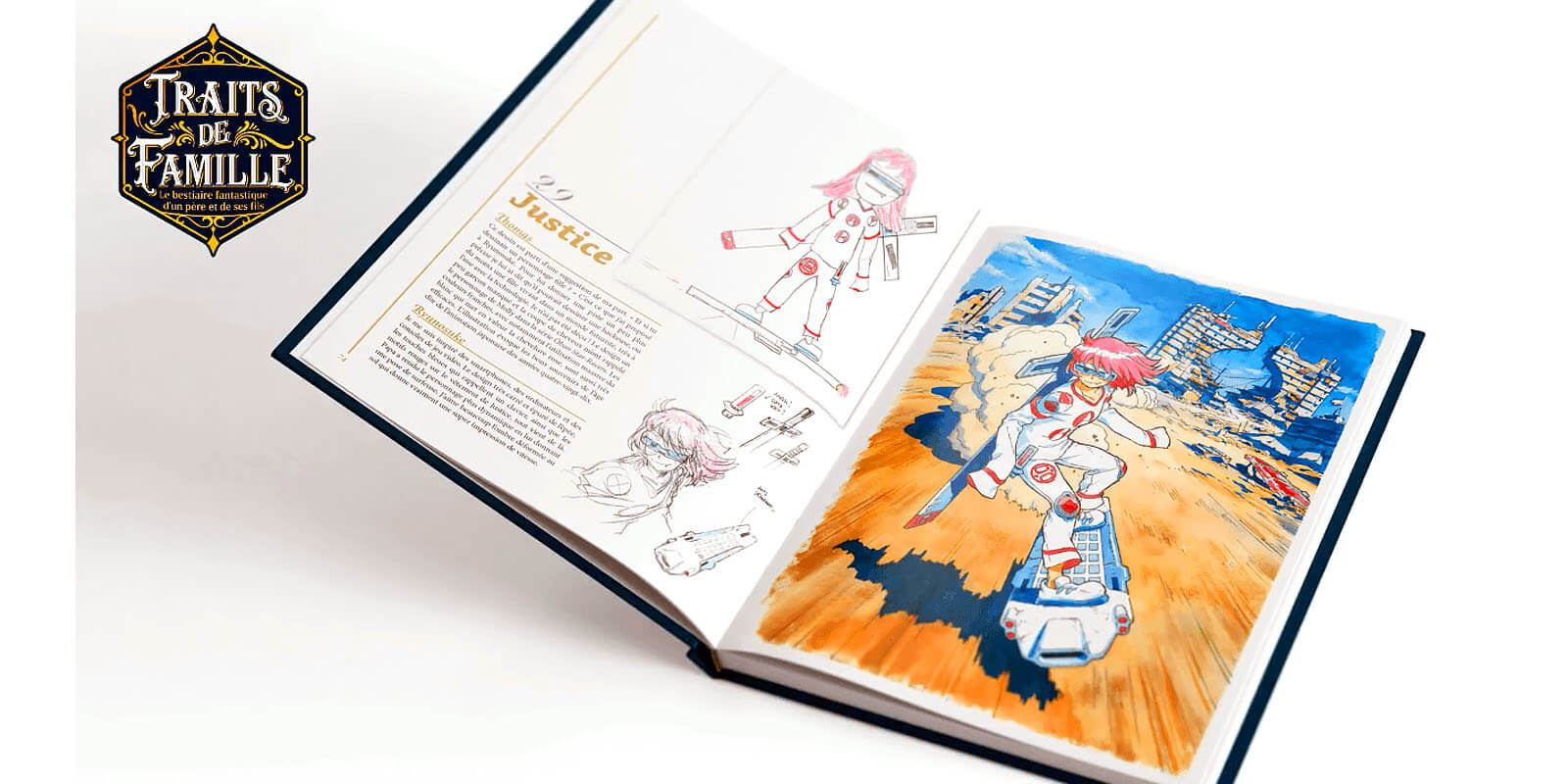 """Preview of """"Family Portrait"""" artbook by Thomas Romain."""