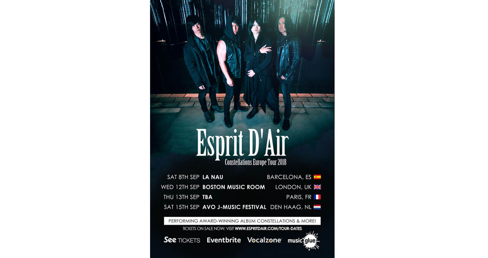 Esprit D'Air Europe Tour Poster