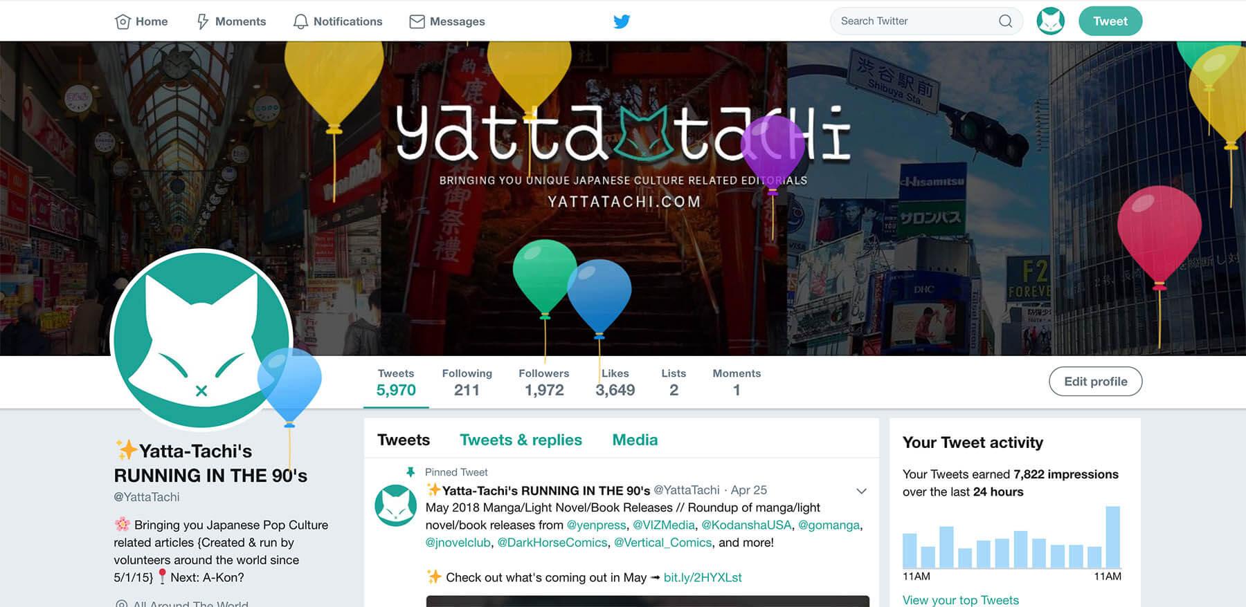 Yatta-Tachi Twitter Birthday 2018