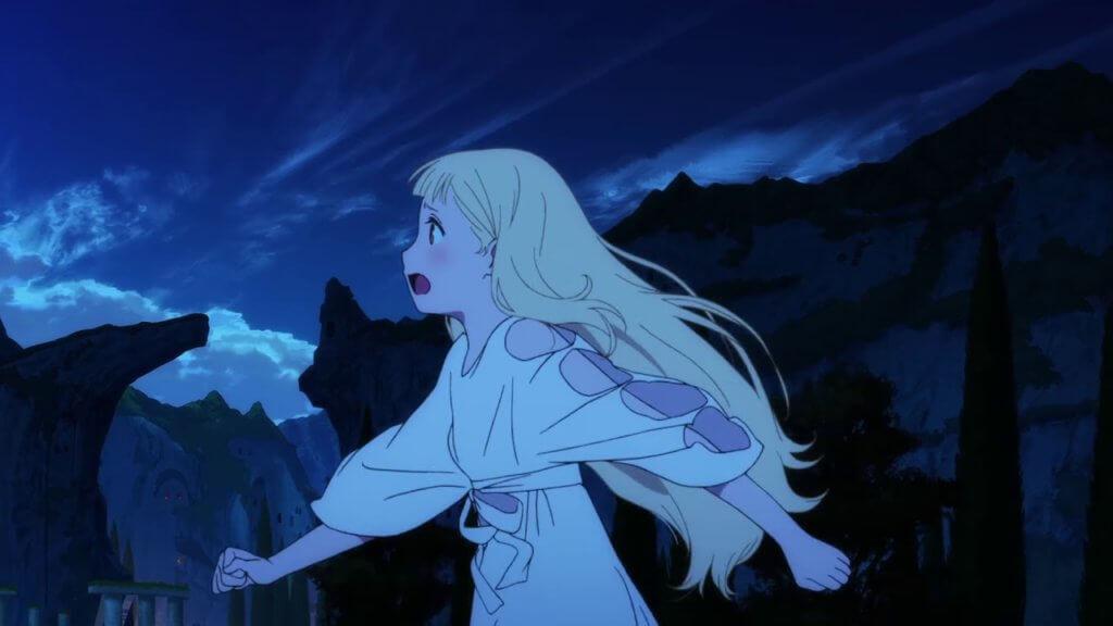 A screenshot of the main character Maquia