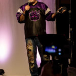 Kyle Hebert narrating the cosplay contest