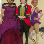 """Lettie Lutz, P.T. Barnum, and Anne Wheeler from """"The Greatest Showman"""""""