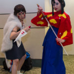"San and Lady Eboshi from ""Princess Mononoke"""