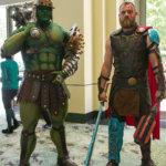 "Thor and Gladiator Hulk from ""Thor: Ragnarok"""