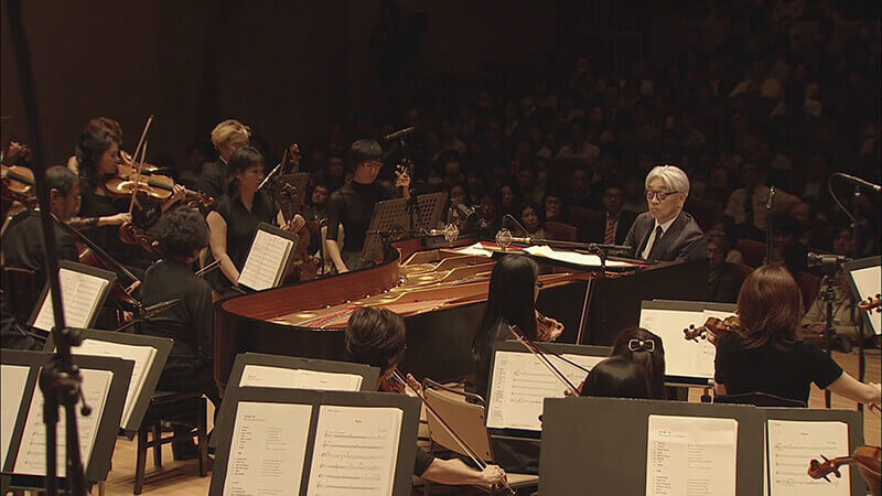 Sakamoto at a classical performance