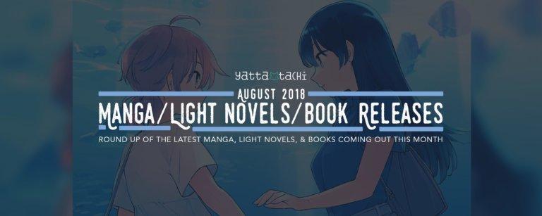 August 2018 Manga / Light Novels / Book Releases