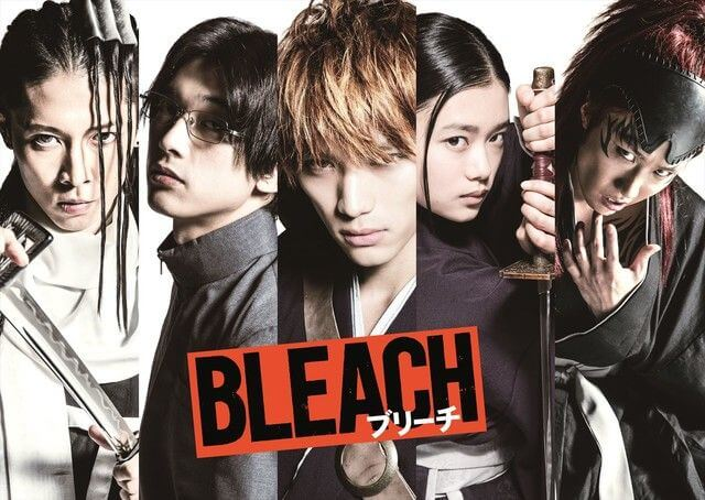 The cast of the BLEACH live-action movie.