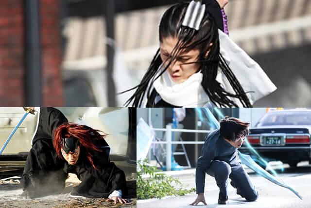 Byakuya, Renji, and Ishida from Bleach