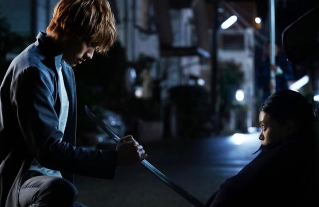 Ichigo and Rukia scene from Bleach