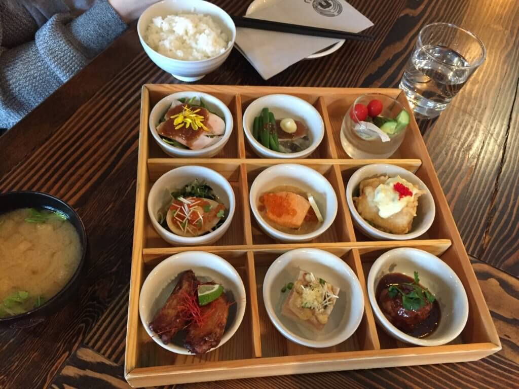 Bento set with 9 small dishes
