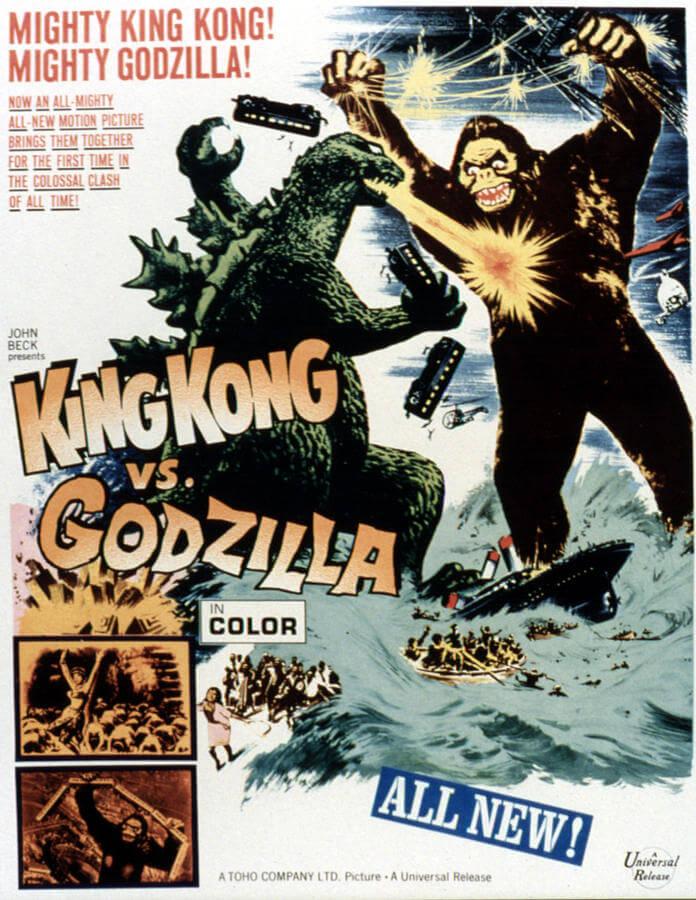 King Kong versus Godzilla poster