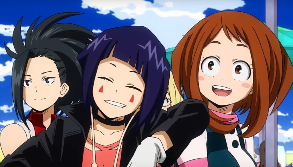 My Hero Academia: Two Heroes - Ochako Uraraka, Momo Yaoyorozu, Kyouka Jirou