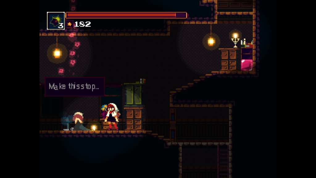 A non-playable character in Momodora: RUtM