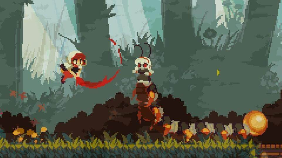 Momodora: RUtM boss battle.