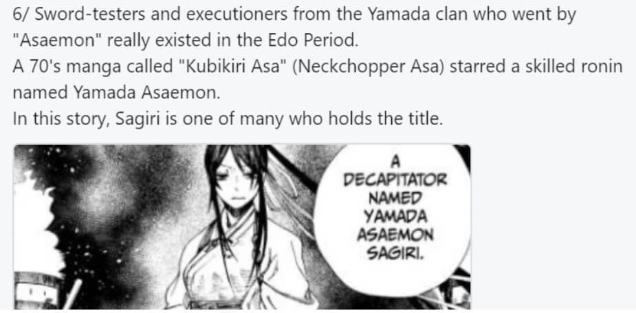 A tweet explaining the existence of the Asaemon
