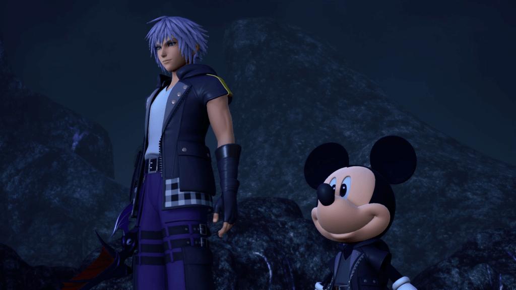 Riku and Mickey in Kingdom Hearts 3