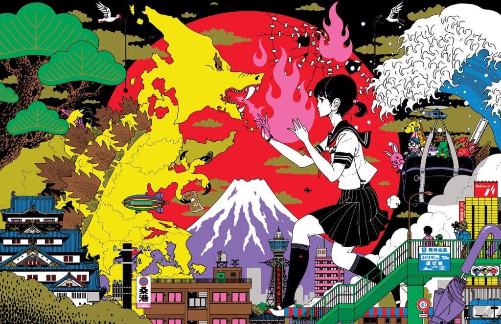 Yusuke Nakamura's promotional poster design for J-Pop Summit 2015.
