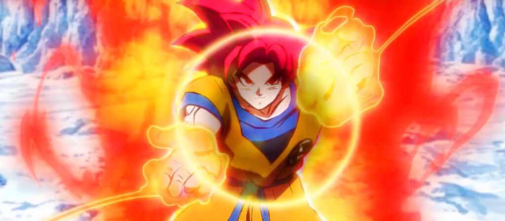 Goku powering up