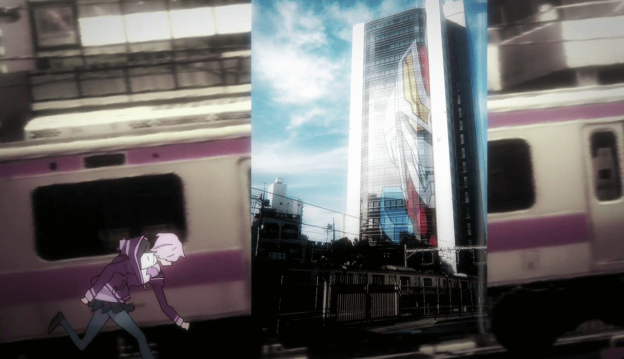 Akane running in Gridman