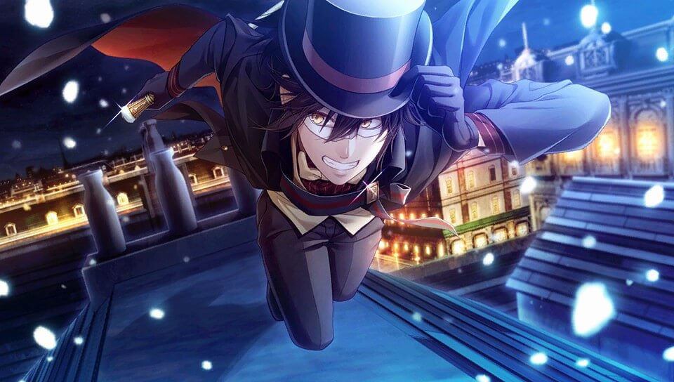 "A screenshot of Arsène Lupin from ""Code: Realize ~Wintertide Miracles~"""