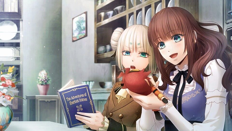 """A screenshot of Cardia and Finis from """"Code: Realize ~Wintertide Miracles~"""""""