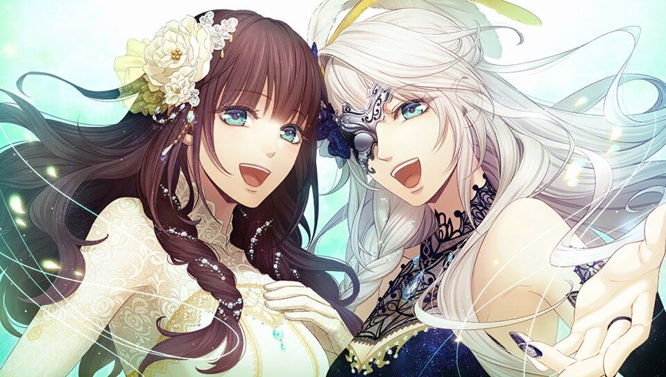 "A screenshot of Cardia and Cantarella from ""Code: Realize ~Wintertide Miracles~"""