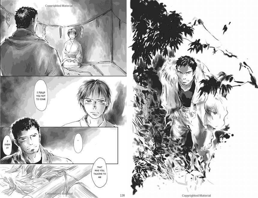 "A scene from ""Tenken"" where Manaka and Saki meet each other."