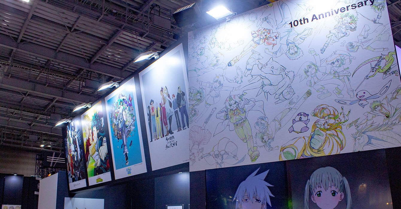 The Bones booth at AnimeJapan