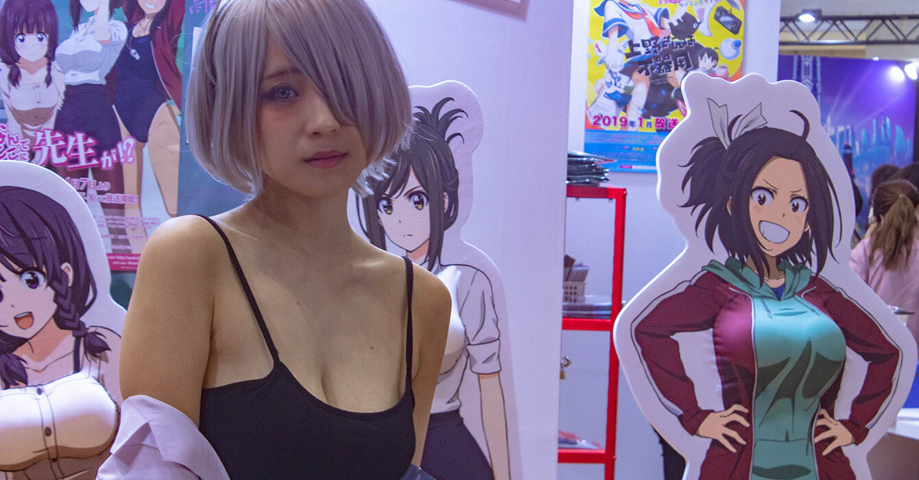 A booth Babe at AnimeJapan