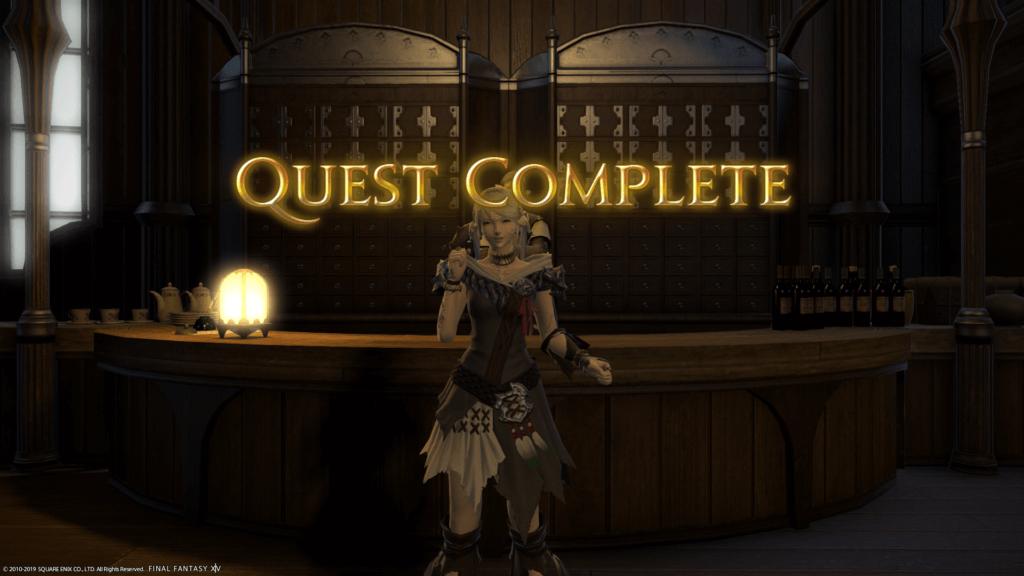 FFXIV pt 2 quest complete