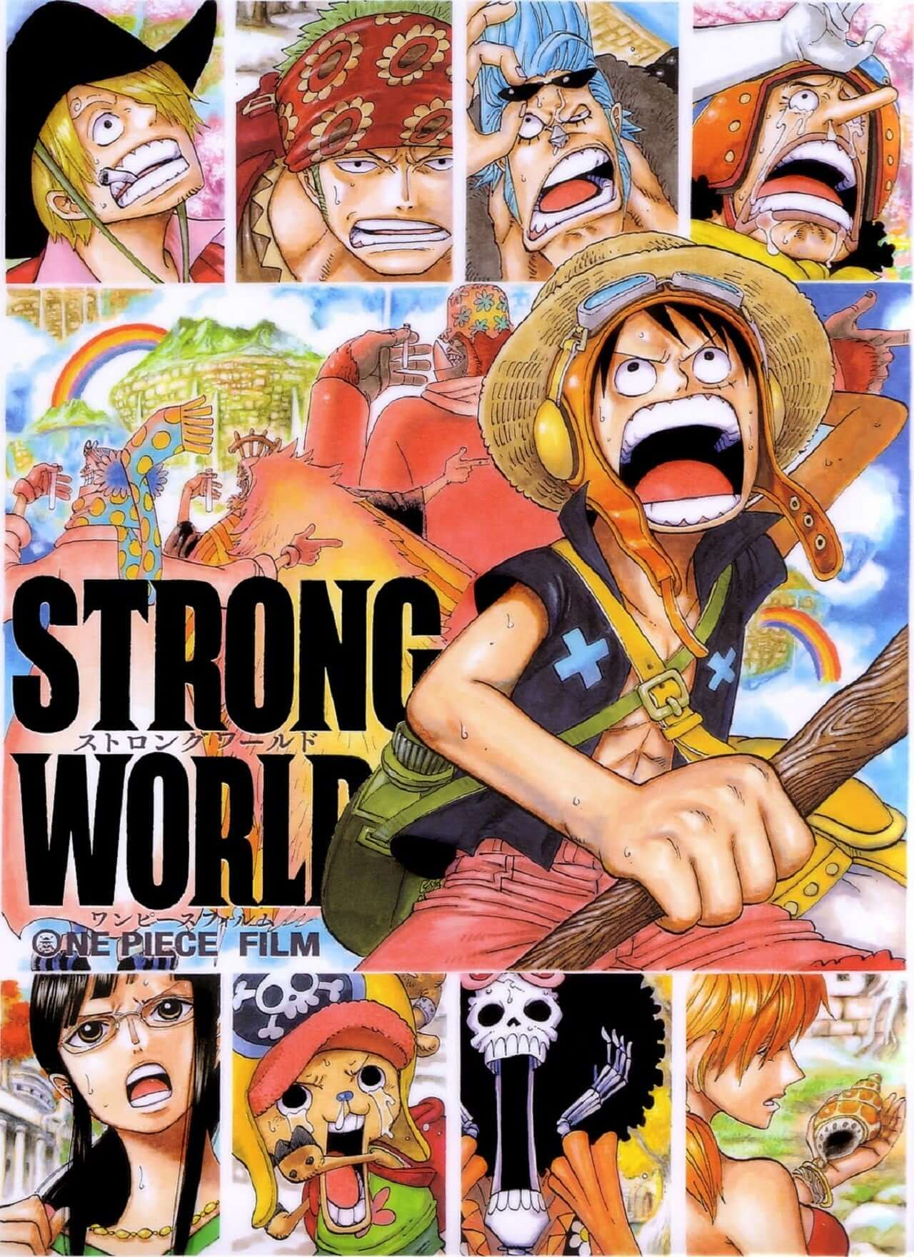 The Straw Hats shouting because obviously.