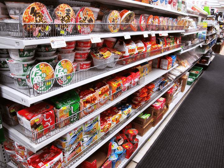 Instant noodle aisle of Sanko