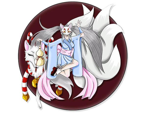 Nomikai Dallas' mascot and fox spirit
