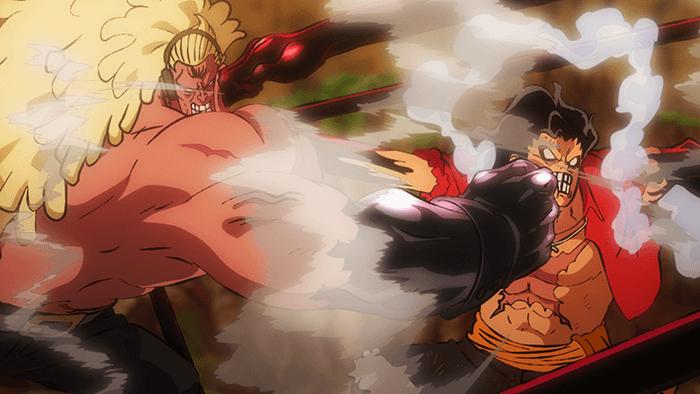 One Piece: Stampede, Luffy versus Douglas Bullet