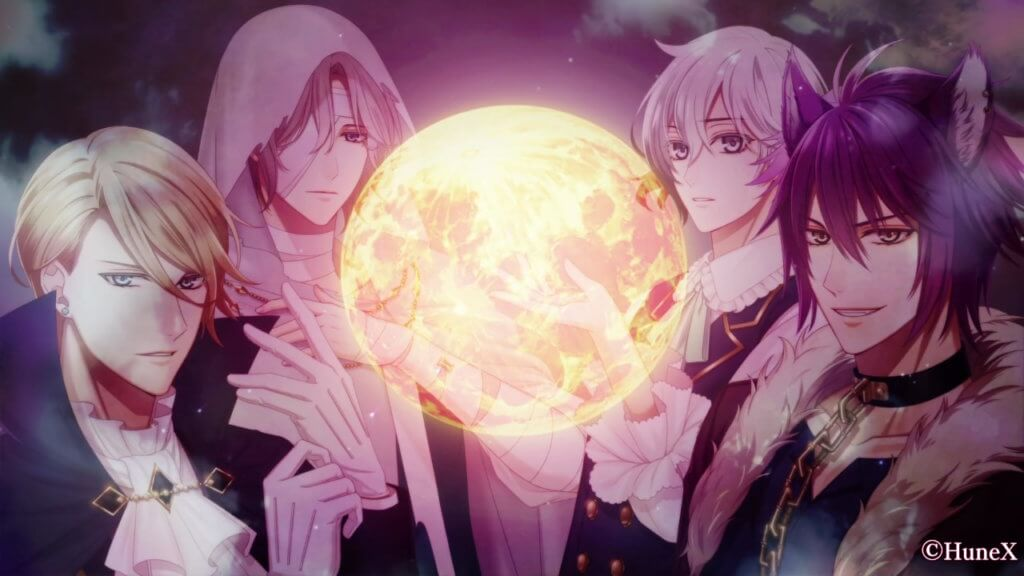 Ephemeral love interests in front of the moon