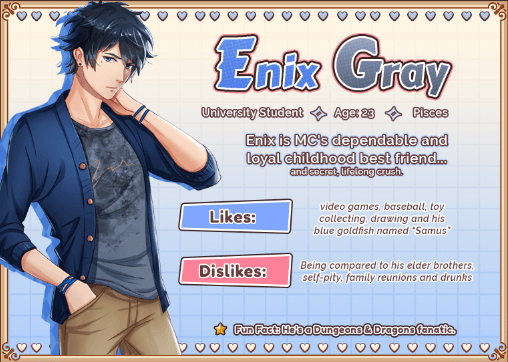 Love Spell Enix Gray character info