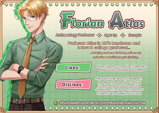 Love Spell Florian Atlas character info