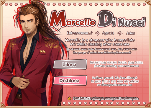 Love Spell Marcello character info page