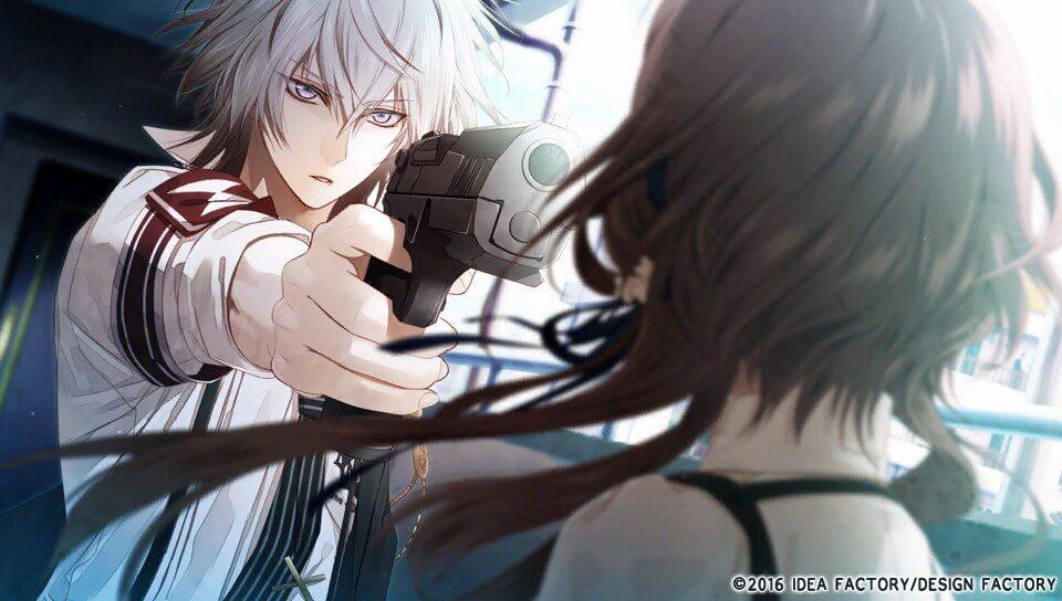 CxM Kei Okazaki holds a gun to Ichika's head