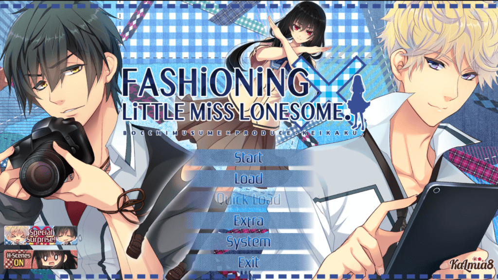 Fashioning Little Miss Lonesome game title screen