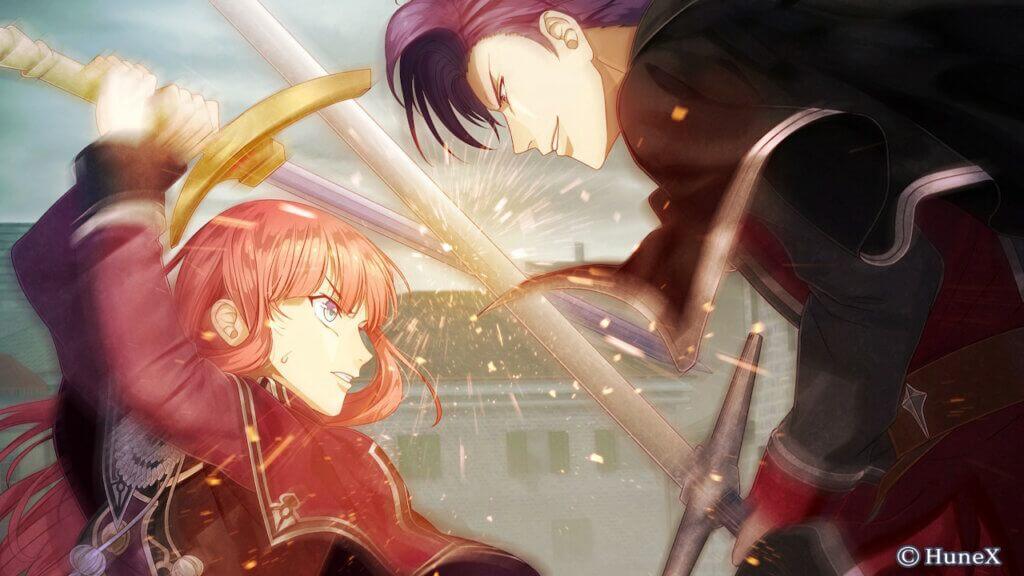 Cyrus in a sword fight with Sachsen Brandenburg.
