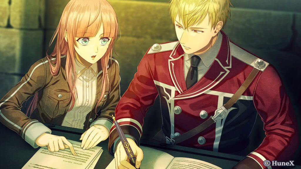 MC and Ines sitting at a table while she tutors him